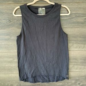 CALIA | Gray Floral Embossed Textured Knit Tank